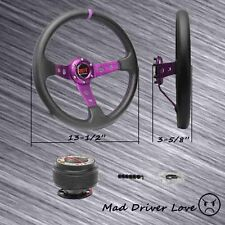 PURPLE STEERING WHEEL+HUB ADAPTER 01-12 HONDA CIVIC 98-02 ACCORD 02-05 RSX SCION