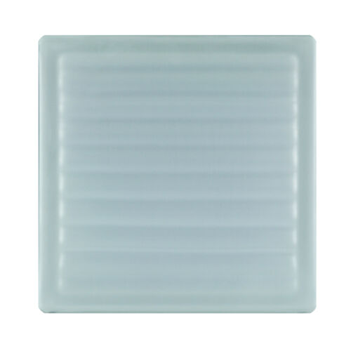 6 Stück Glasbausteine Glasstein Glassteine PARALLEL KLAR Sahara 19x19x8cm