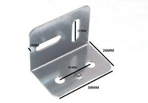 38 Mm Square civière Plaque Angle Support 2 Trous 2 s/pack OFS Pack de 10
