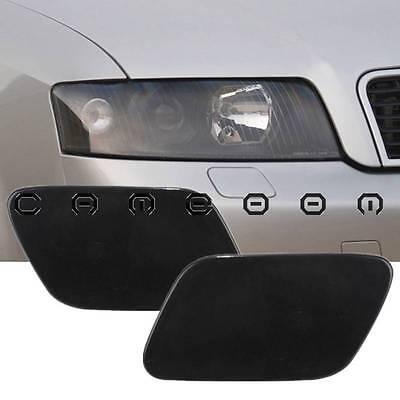 For Audi A4 B6 Quattro 2002-2005 Bumper Headlight Washer Cap Unpaint Cover Pair