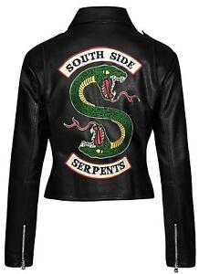2 Kvinder Riverdale Slanger Læder Snake Black Face Jakke Biker Southside qr0aCq