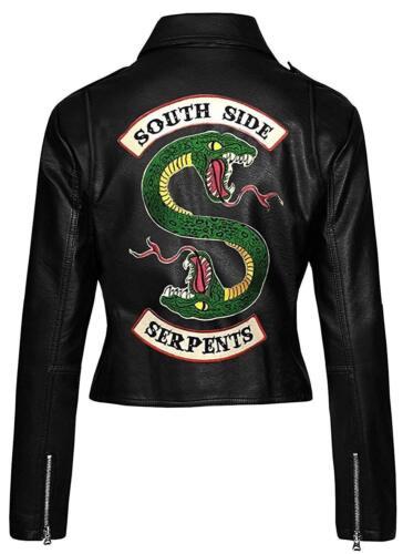 Face 2 Biker Kvinder Snake Jakke Riverdale Black Southside Slanger Læder 8wqF0p