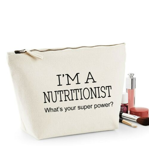 Nutritionist Thank You Gift Women/'s Make Up Accessory Bag Mothers Day