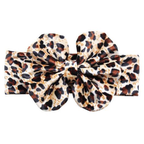 1PC Velvet Headband Hairband Bow Leopard Print Elastic Soft for Baby Girls Gift