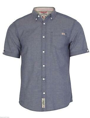 Mens Tokyo Laundry Coloured Chambray, Speckled Casual Short Sleeve Shirt Hochwertige Materialien
