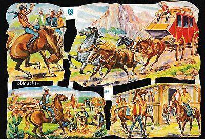 sehr seltener Bogen der Fa Werner Kunold Cowboys # GLANZBILDER #  WK 659