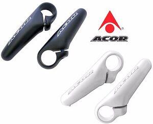Acor Mini Alloy Bicycle Bar Ends White 90mm One Piece Ergonomic Design