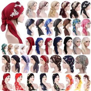 Women-039-s-Muslim-Hat-Bonnet-Hijab-Turban-Chemo-Cap-Headscarf-Headwrap-Scarf-Wrap