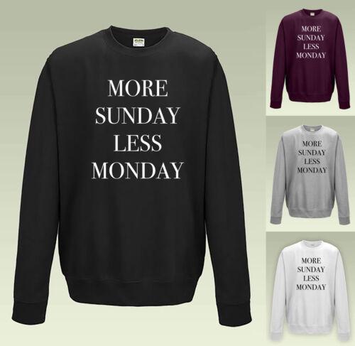 Domenica più meno lunedì Felpa-JH030 Maglione Maglione Divertente sarcastico