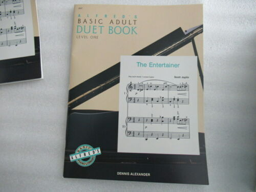 D3 Alfred/'s Basic Adult Duet Book Level One by Dennis Alexander