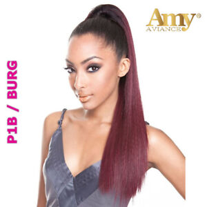 Image Is Loading Love Straight Style Drawstring Ponytail 18 20 Inches