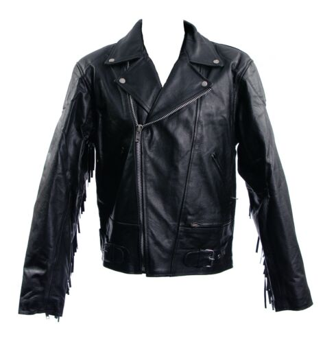 RK Sports Cruising Touring Tassel Leather Motorcycle Motorbike Jacket