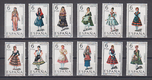 SPAIN-1969-MNH-SC-SCOTT-1416-27-REGIONAL-COSTUMES