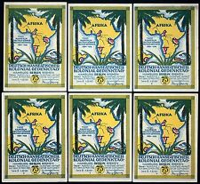 "BERLIN 1921 ""African Colonies/Pioneers"" RARE smooth white thin paper set! German"