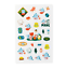 miniature 4 - Official BTS BT21 Green Planet Clear Sticker +Freebie +Free Tracking KPOP