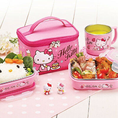 Lock&Lock Hello Kitty Children Baby Stainless Lunchbox,Bento Box,Food Containers