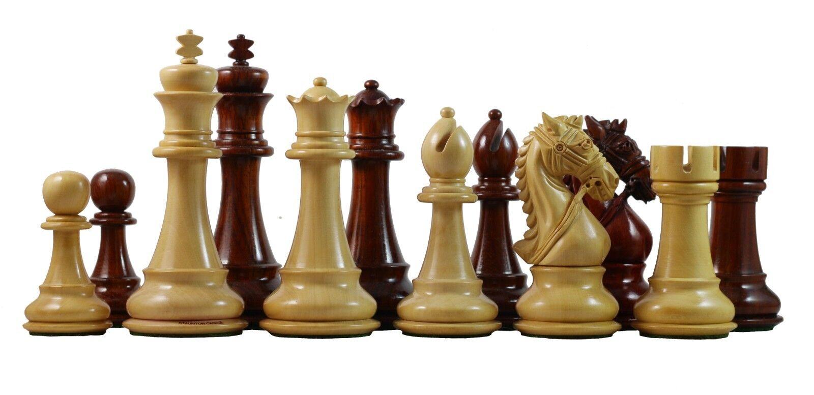 Bride Série Premium Staunton 4.4  Chess Set en padouk bois
