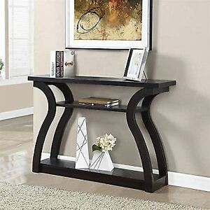 Merveilleux Monarch Specialties I 2445 Hall Console Accent Table Cappuccino 47l