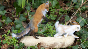 Fox-and-Hare-Needle-Felted-Animal-Sculpture-One-of-a-Kind
