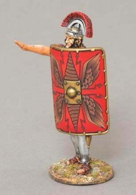 THOMAS GUNN ROMAN EMPIRE ROM040A CENTURION SALUTING RED SHIELD MIB
