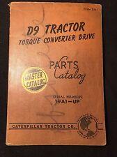 Caterpillar Tractor Co D9 Tractor Torque Converter Drive Parts Catalog 1955
