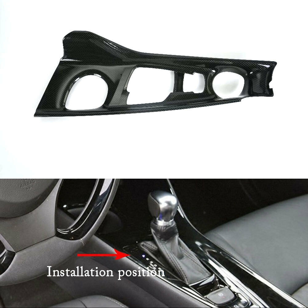 Carbon Fiber Style Console Gear Shifter Lever Cover Trim For Toyota C-HR CHR 16