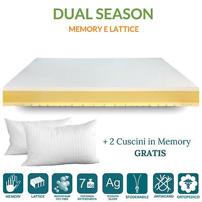 Materasso Memory E In Lattice Dual Season Doppio Confort Lato Estivo E Invernale Ebay
