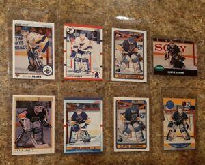 8-Curtis-Joseph-Rookie-card-lot-1990-91-O-pee-chee-Premier-Upper-Pro-Score-RC