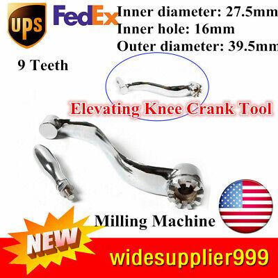9 Teeth Milling Machine Crank Milling Machine Parts Elevating Knee Crank Tool