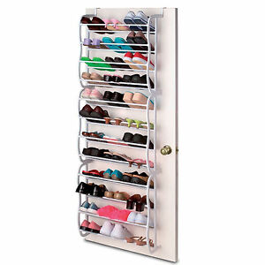 36-PAIR-OVER-DOOR-HANGING-SHOE-RACK-12-TIER-SHELF-ORGANISER-STORAGE-STAND-HOLDER