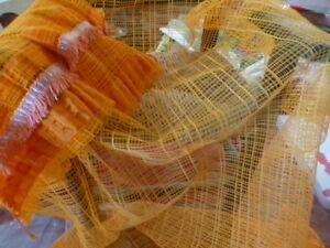 Vintage ,orange ,filet====2rideaux 1m,35x075..sans Repassage Paquet éLéGant Et Robuste
