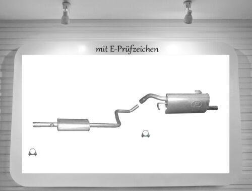 Auspuffanlage Mitsubishi Colt VI VII 1.1 1.3 Auspuff Endtopf Mitteltopf 3 Türer