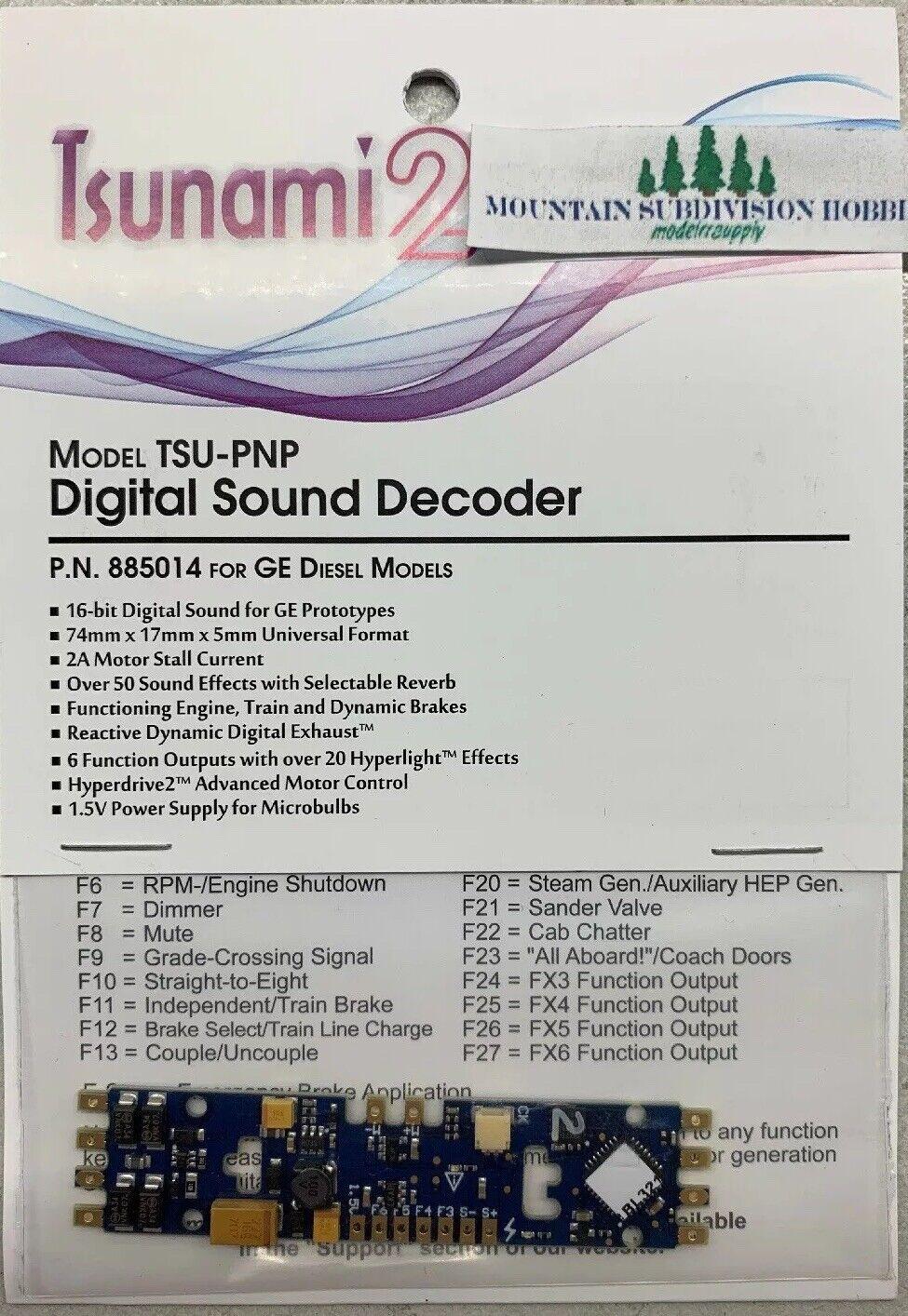 Soundtraxx 885014 Tsunami 2 TSU-PNP GE DIESEL DCC Snd Decoder V1.2 MODELRRSUPPLY