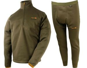 TF Gear Second Skin Set Pulli & Hosen XXL Thermounterwäs<wbr/>che Fleece Karpfen Carp