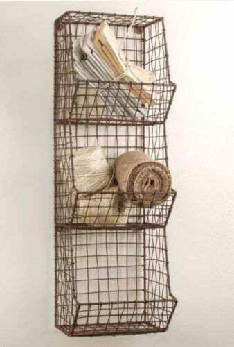 Vintage Industrial Style General Store Wall Bin Cubbies Baskets Farmhouse Decor