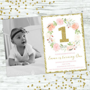 FIRST-BIRTHDAY-INVITATIONS-FLORAL-1ST-BIRTHDAY-GIRL-PARTY-PERSONALISED-INVITES