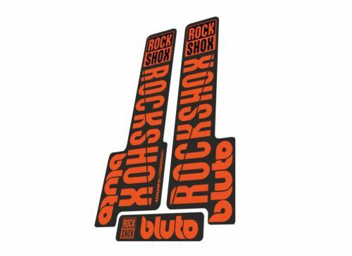 Rock Shox BLUTO 2018 Mountain Bike Cycling Decal Kit Sticker Adhesive Orange