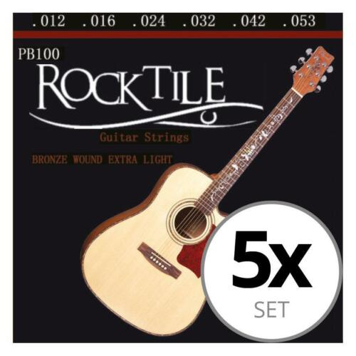 5x ROCKTILE STAHL SAITEN WESTERN GITARRE ERSATZ SAITEN GUITAR STRINGS 012-053