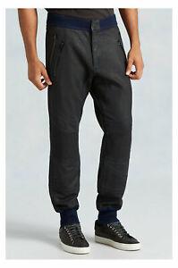 True-Religion-Men-039-s-Coated-Moto-Sweatpants-in-Jet-Black