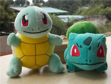 New 2016 Pokemon Bulbasaur Squirtle Plush Stuffed Doll Toy Set of 2-USA Seller