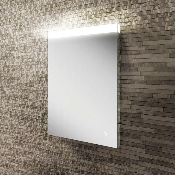 Alpine 50 LED top illuminated bathroom mirror 70x50x3cm