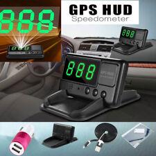 Auto GPS HUD Head Up Display Tachometer Geschwindigkeit Speed Warning System DE