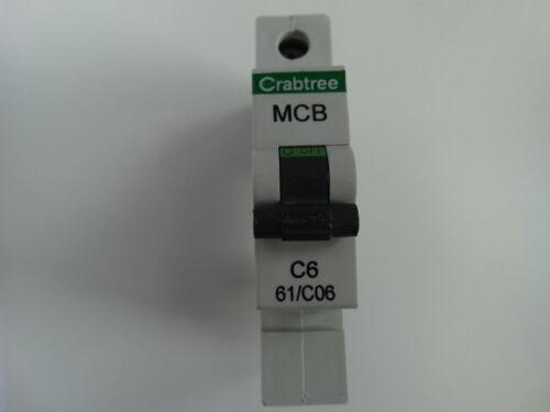 Crabtree Starbreaker 61//B06 61//C06 61//B16 61//B20 61//B32 MCB Black Clip