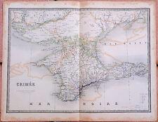 1856, Carte de la CRIMEE - 53 x 67 cm.- Andriveau Goujon. Crimea
