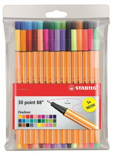 30x Stabilo Pen 88 Point 88 Fineliner Feinschreiber  inkl 6 NEON Farben 8830-1