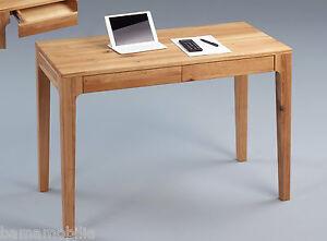 Schreibtisch Wildeiche Massiv Holz Tisch Pc Laptop Schubladen