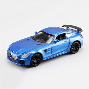 AMG-GT-1-32-Die-Cast-Modellauto-Auto-Spielzeug-Model-Sammlung-Blau