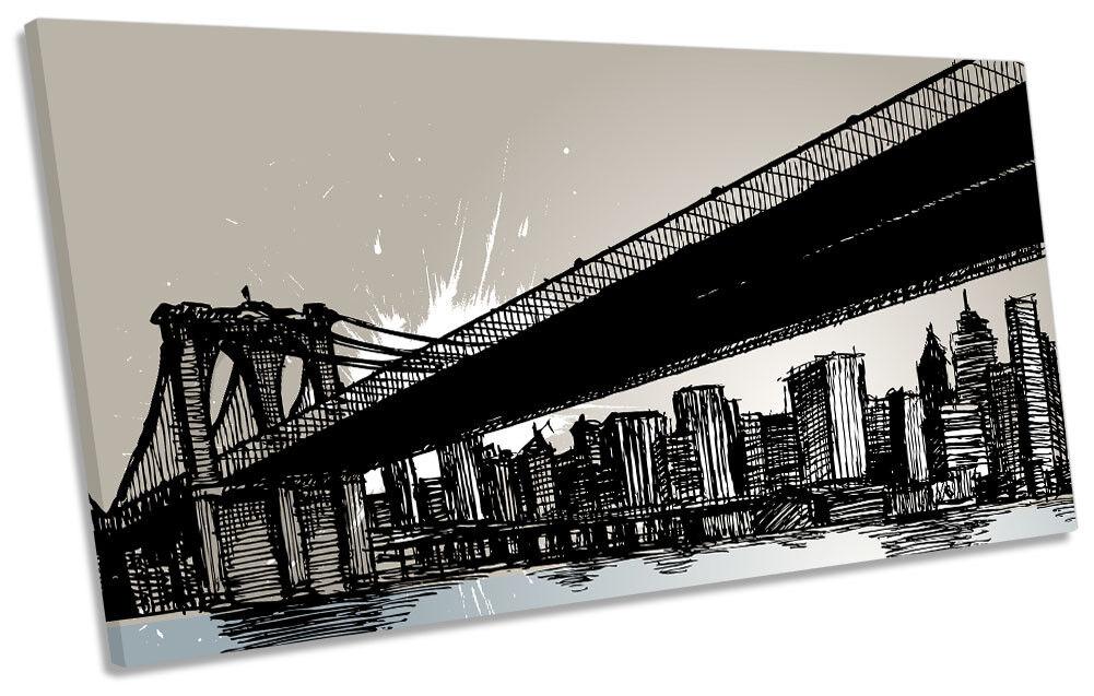Brooklyn Bridge New York York York City Picture PANORAMIC CANVAS WALL ART Print 6d4a2a