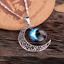 collana-donna-medaglione-portafortuna-galassia-argento-luna-da-con-in-mezzaluna miniatura 1