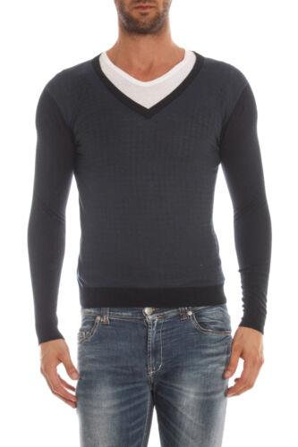 Fm52187sp3405 Alessandrini Maglia i Daniele 23 Sweater Uomo Lana A Blu 88Bx5wg